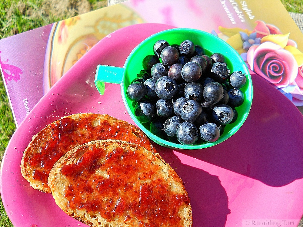 Blueberries and toast
