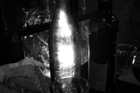 light through a bottle