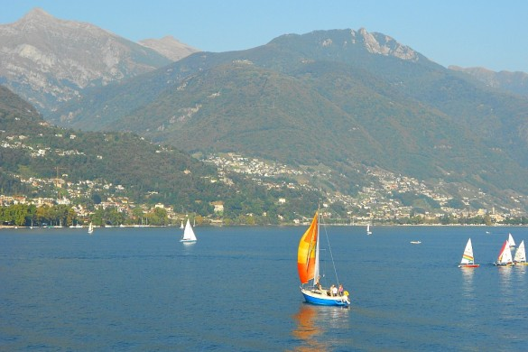sailboat on Lake Maggiore