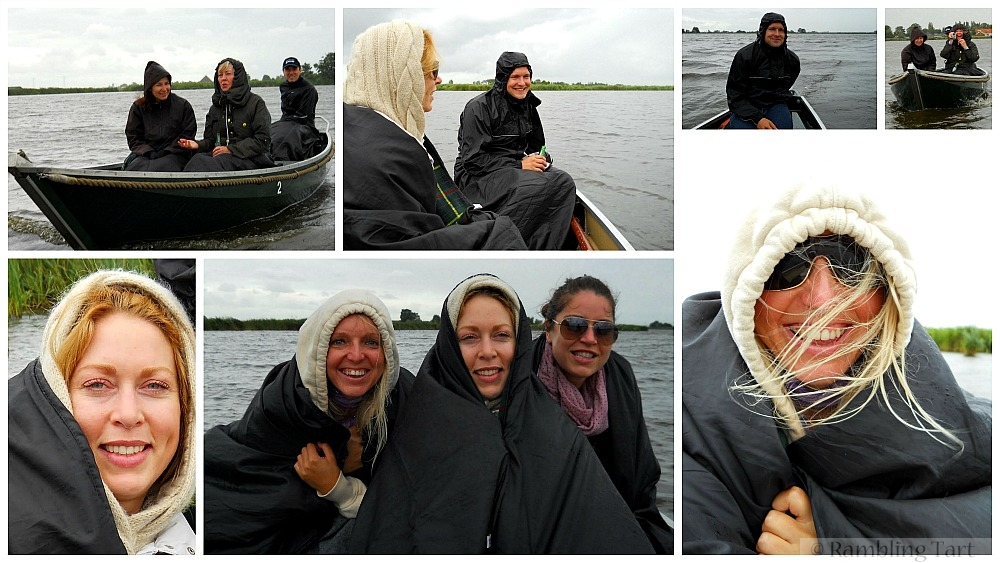 boating in raincoats