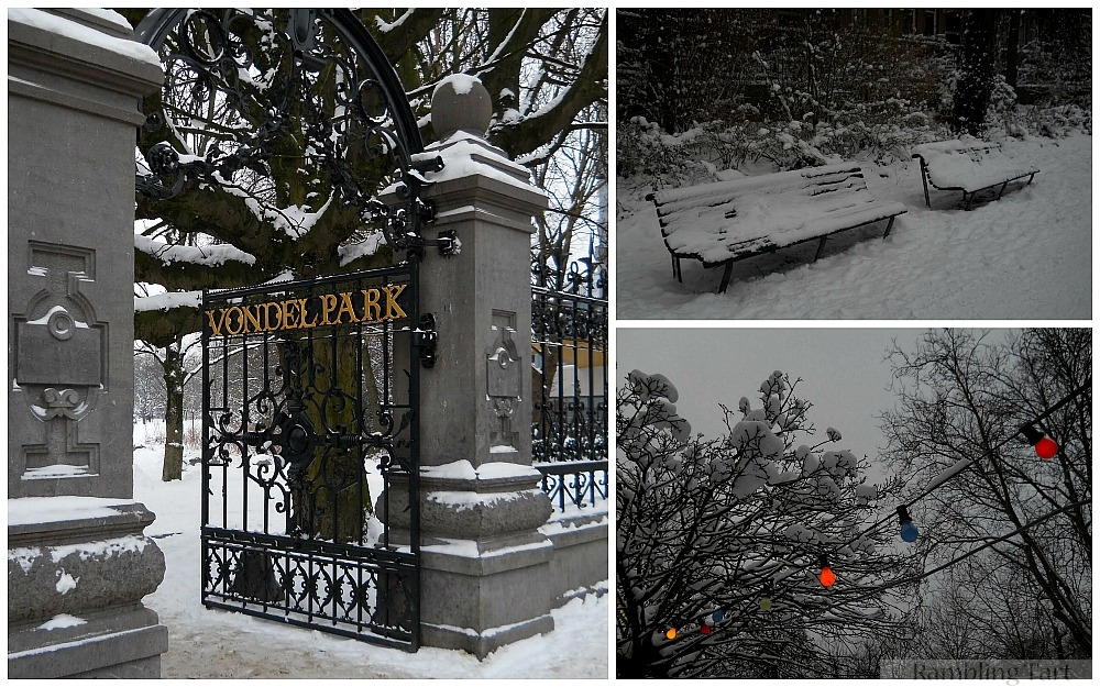 Vondel Park in winter