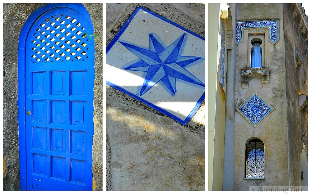 blue and white Italian tiles