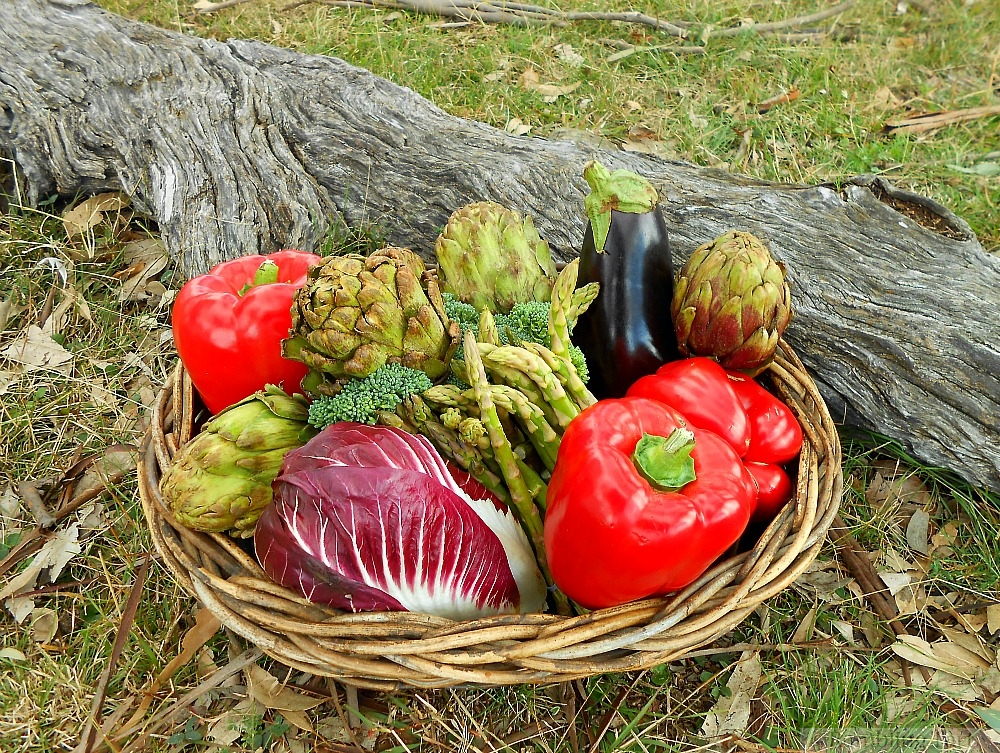 basket of Italian veggies