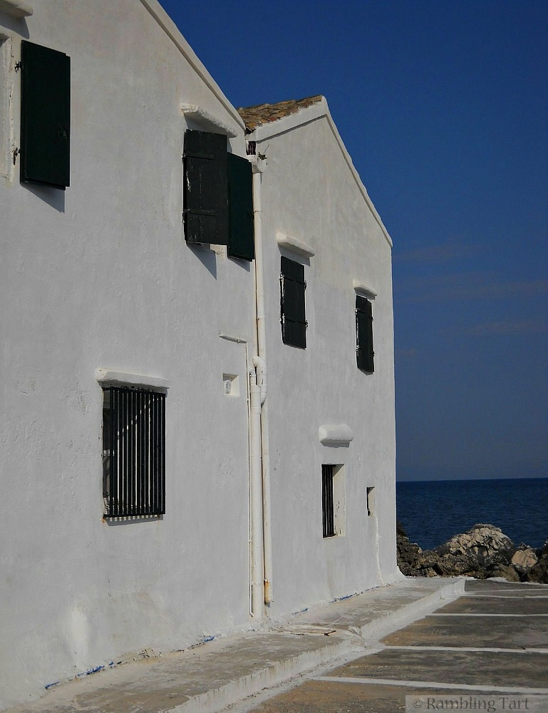 white washed Greek building