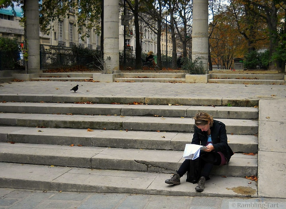 girl on Paris steps