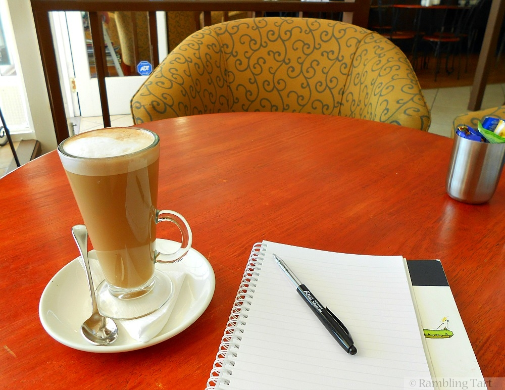 latte and journal