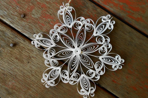 hand scrolled ornament