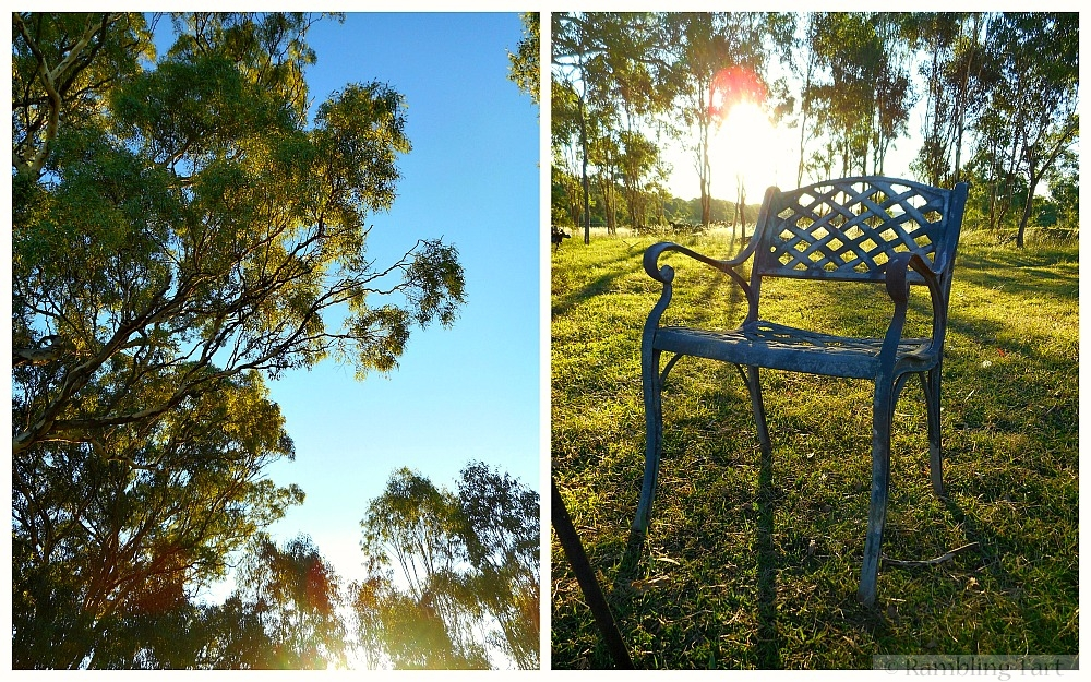 sunset and old chair