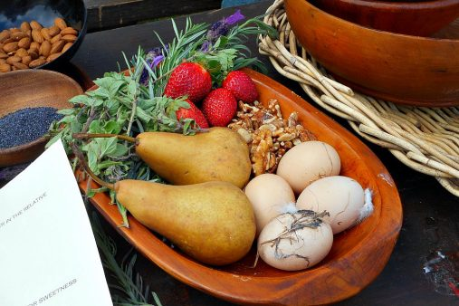 medieval fruit and eggs