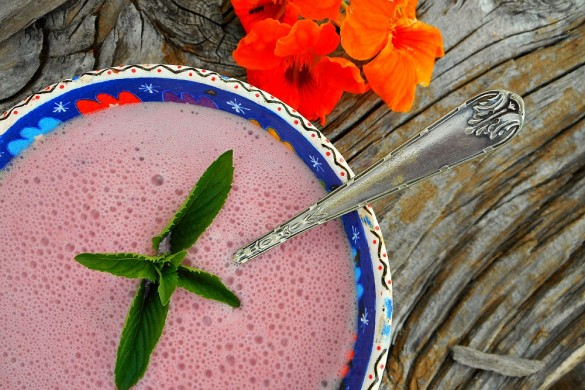 chilled cherry cranberry soup
