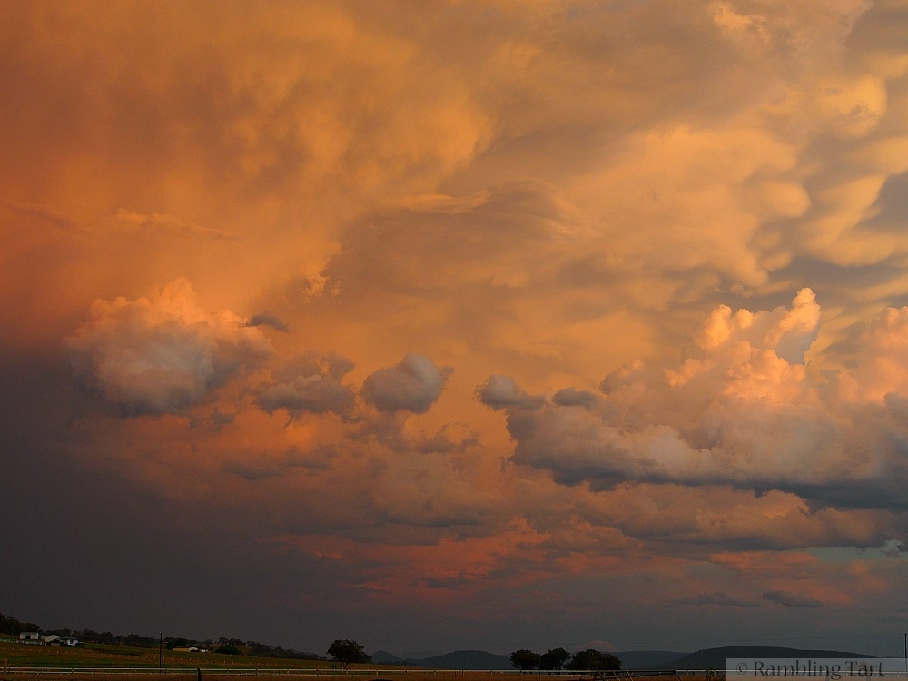 pink storm clouds
