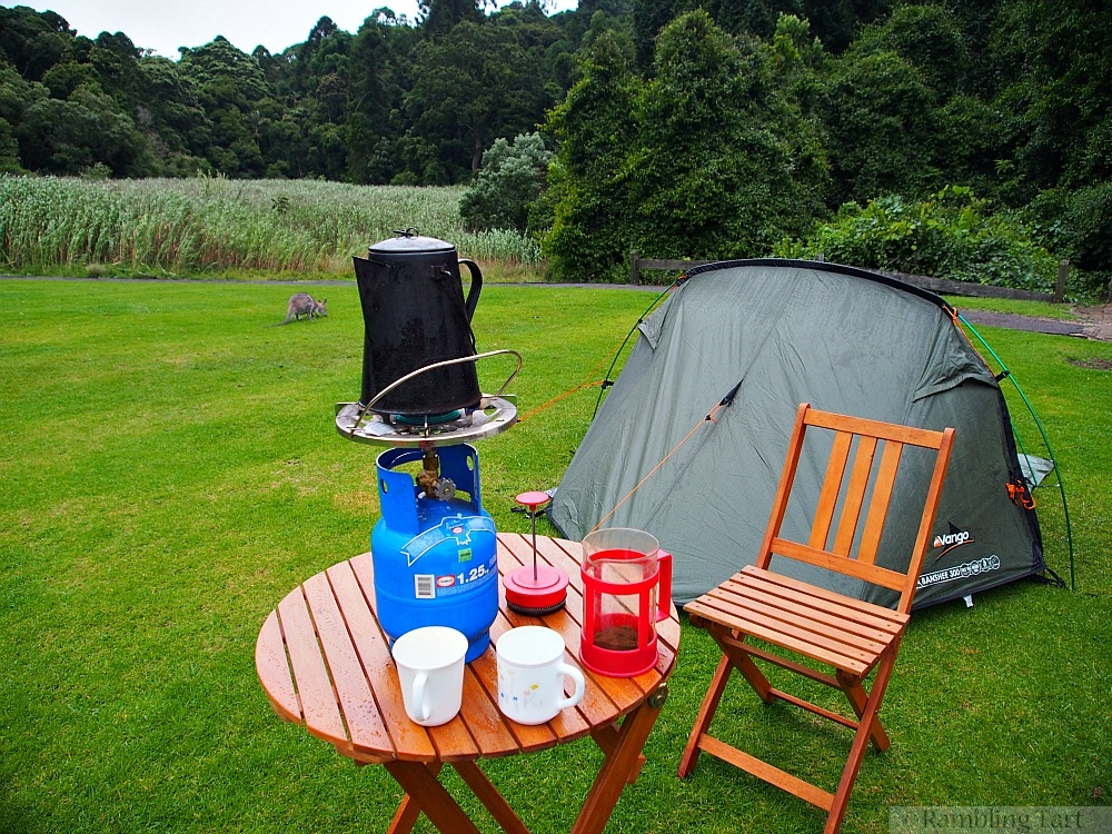 coffee on a camping trip