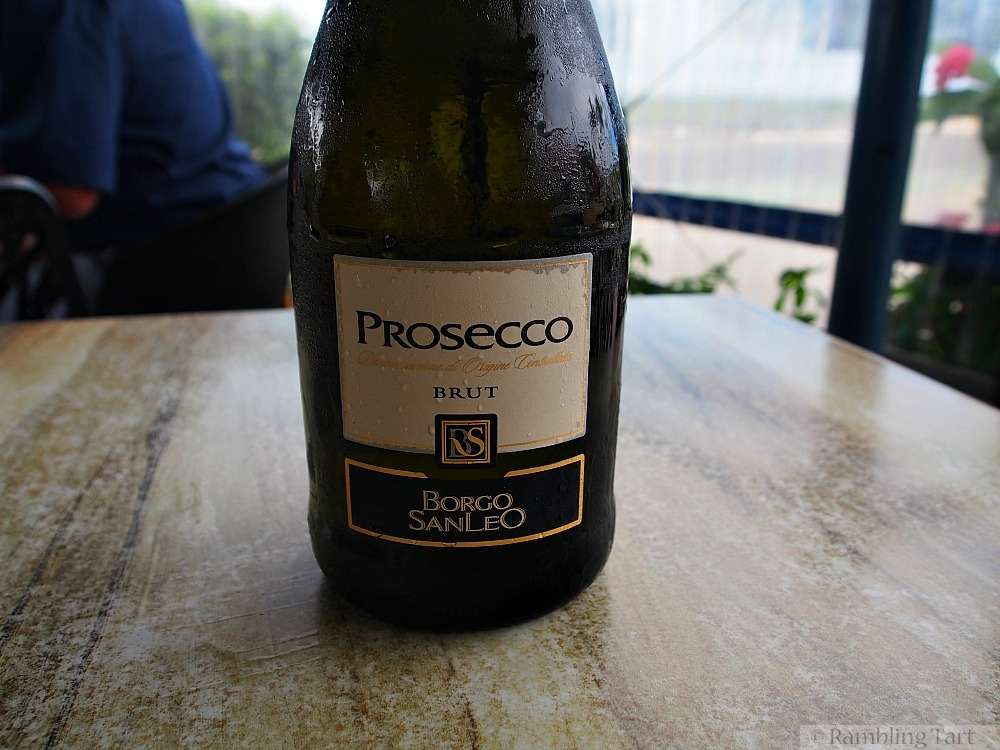 iced bottle of prosecco