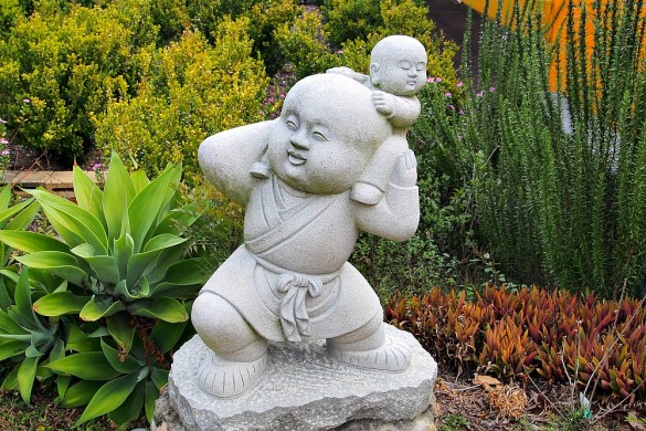 buddha with baby