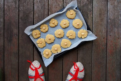 cookies and slippers