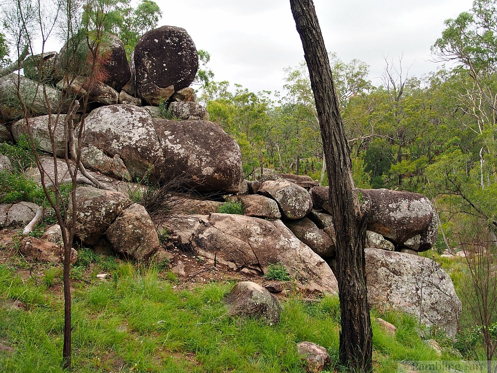 boulders at Coomba Water Hole