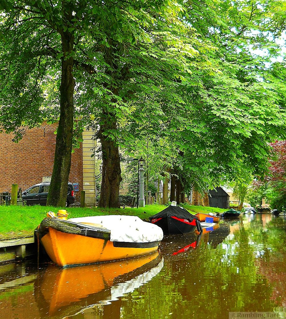 Canal boats yellow
