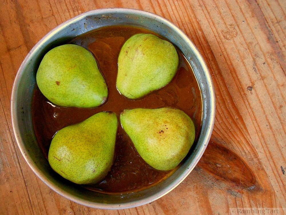 how to roast pears