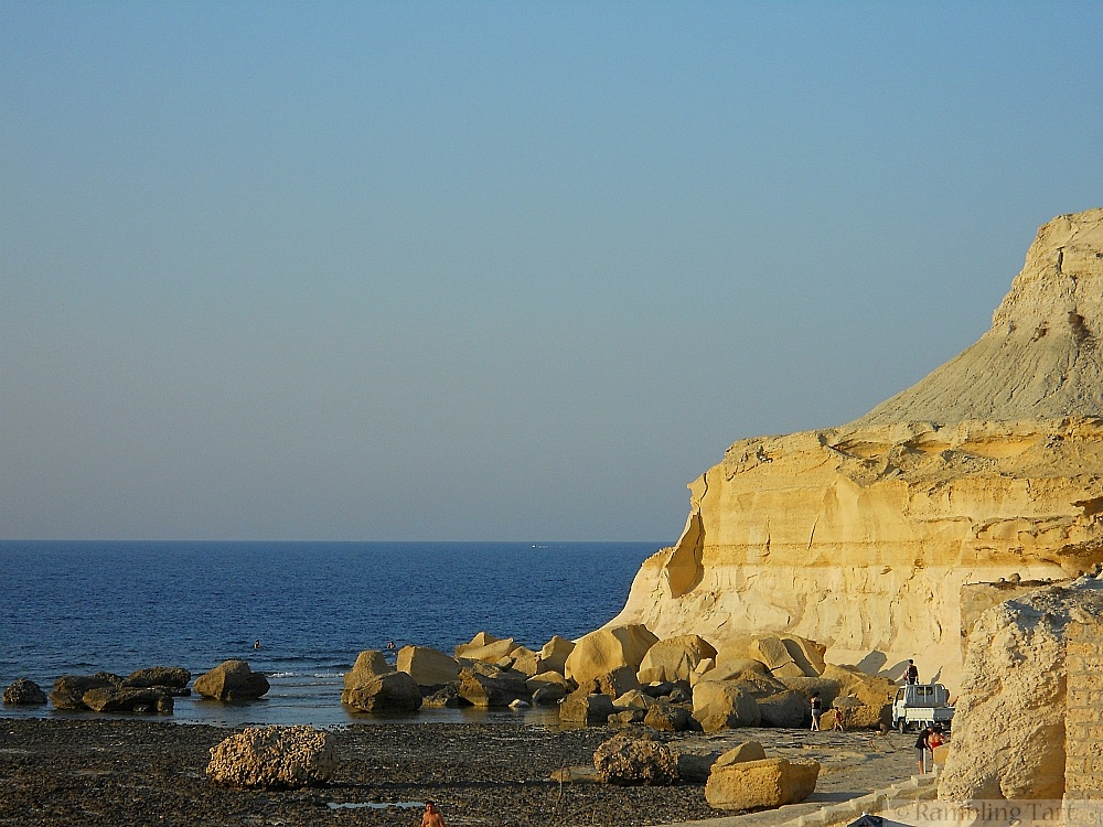 Gozo limestone cliffs