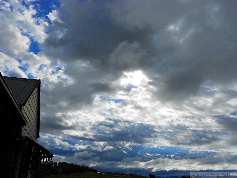 Australian stormy sky