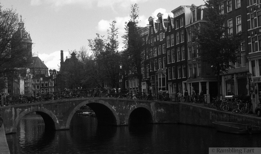 Dutch canal bridge