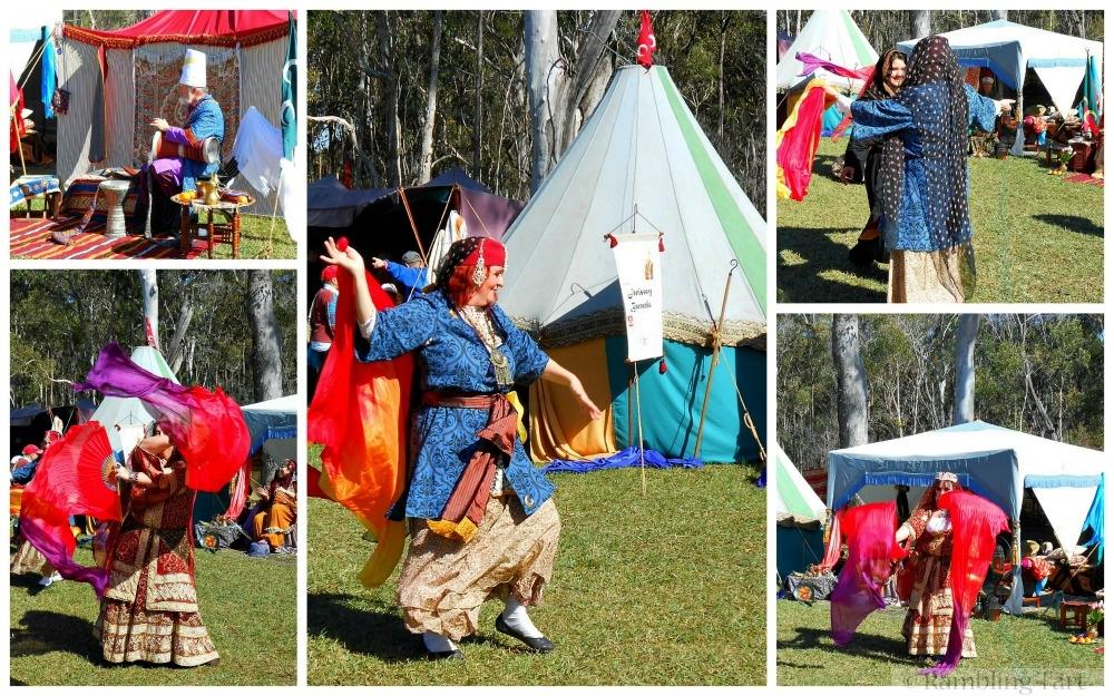 medieval Syrian dancers