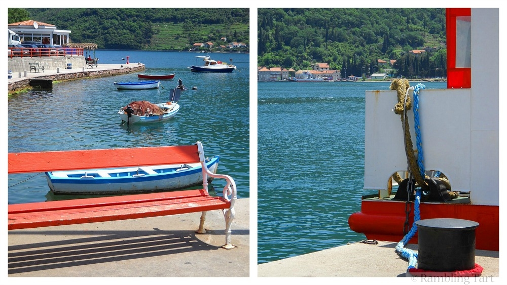 waiting for a Montenegro ferry