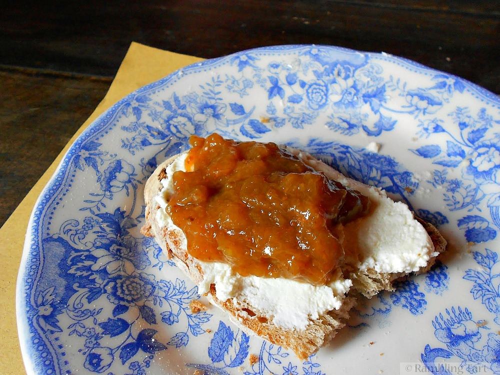 country bread with preserves