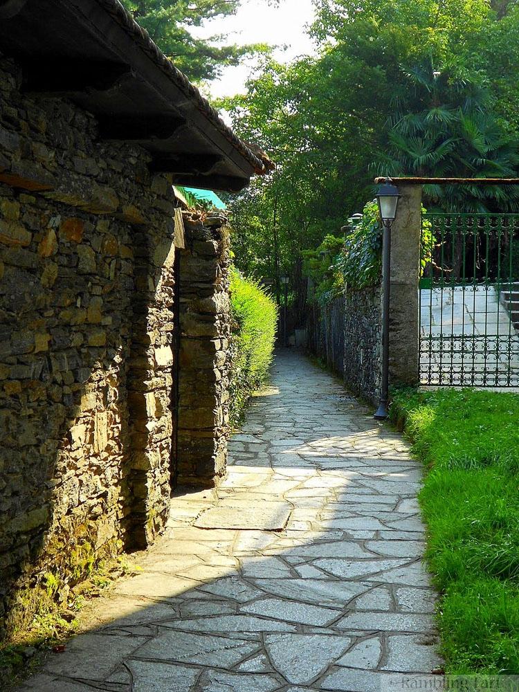 sunny stone path