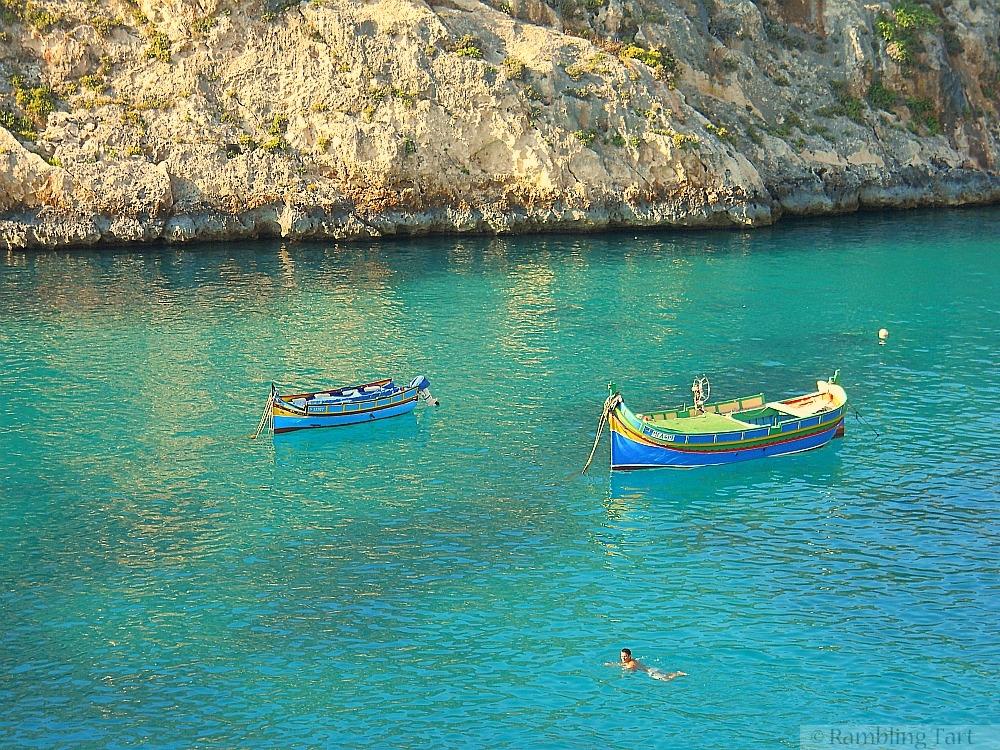 swimming in Gozo bay