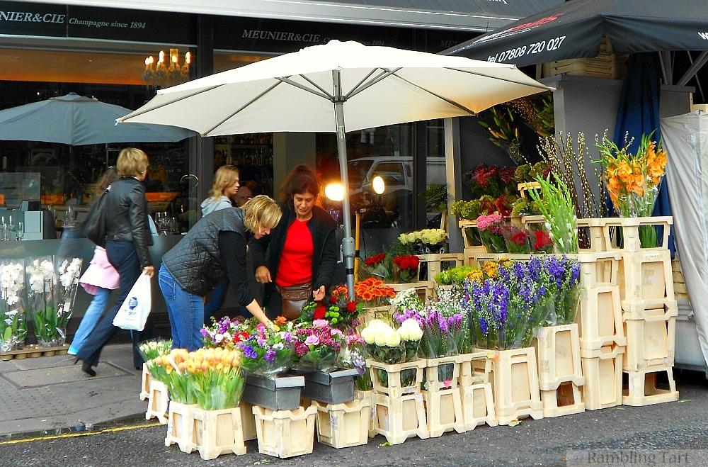London flower stall