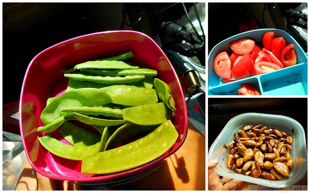 healthy road trip food