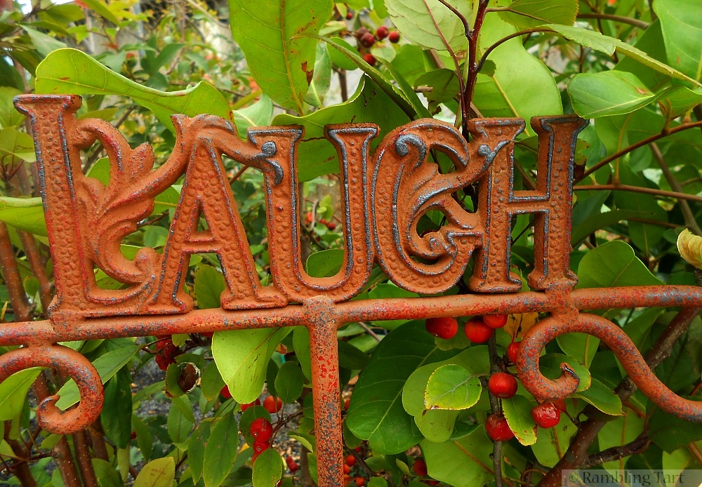 laugh garden sign