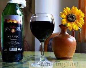 Macedonian dry red wine Vranec by Petar Milošević