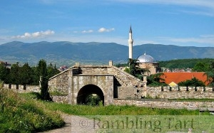 Mustapha Pasha Mosque seen from Kale Fortress, Skopje by Markus Bernet