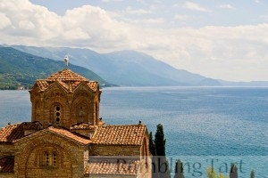 Sveti Jovan Kaneo & Lake Ohrid, Macedonia by Geoff