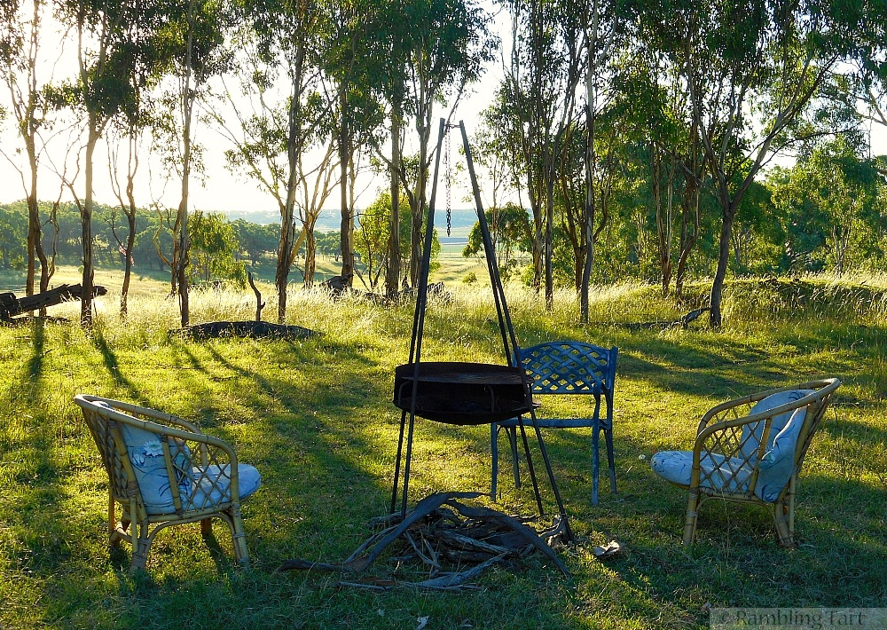 chairs around fire pit