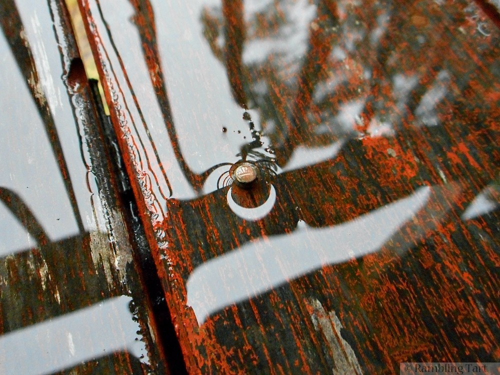 rain on old wood
