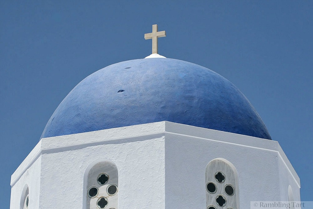 Greek Orthodox Church Dome and Cross by joe