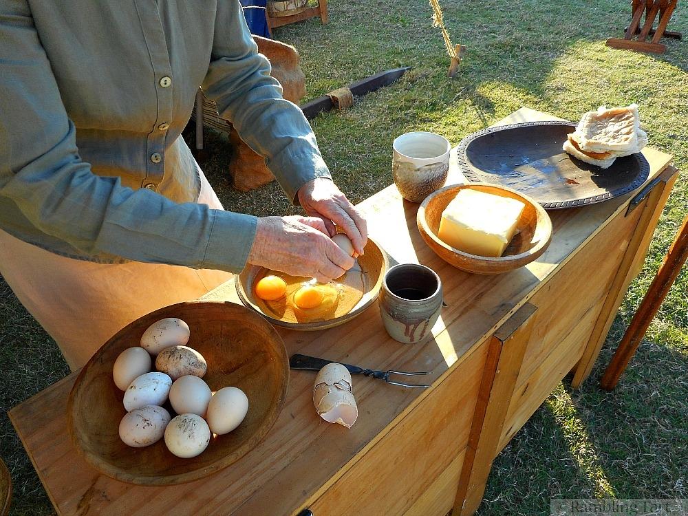 making medieval breakfast