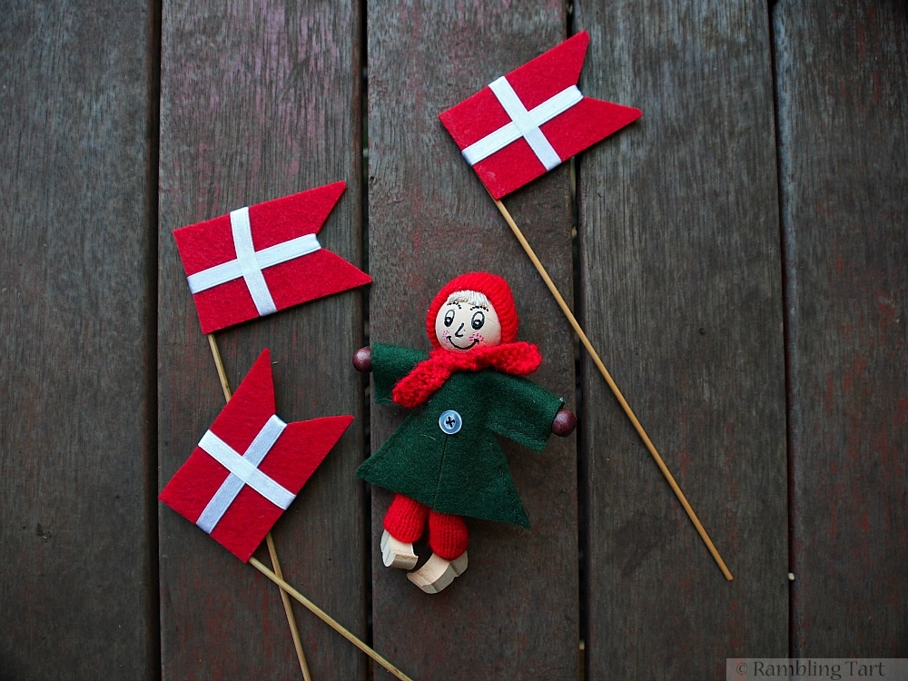 felt Danish flags