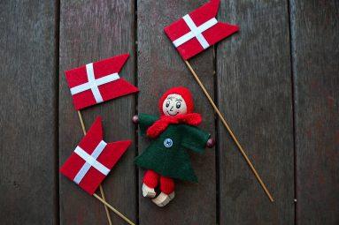 felt Danish flags