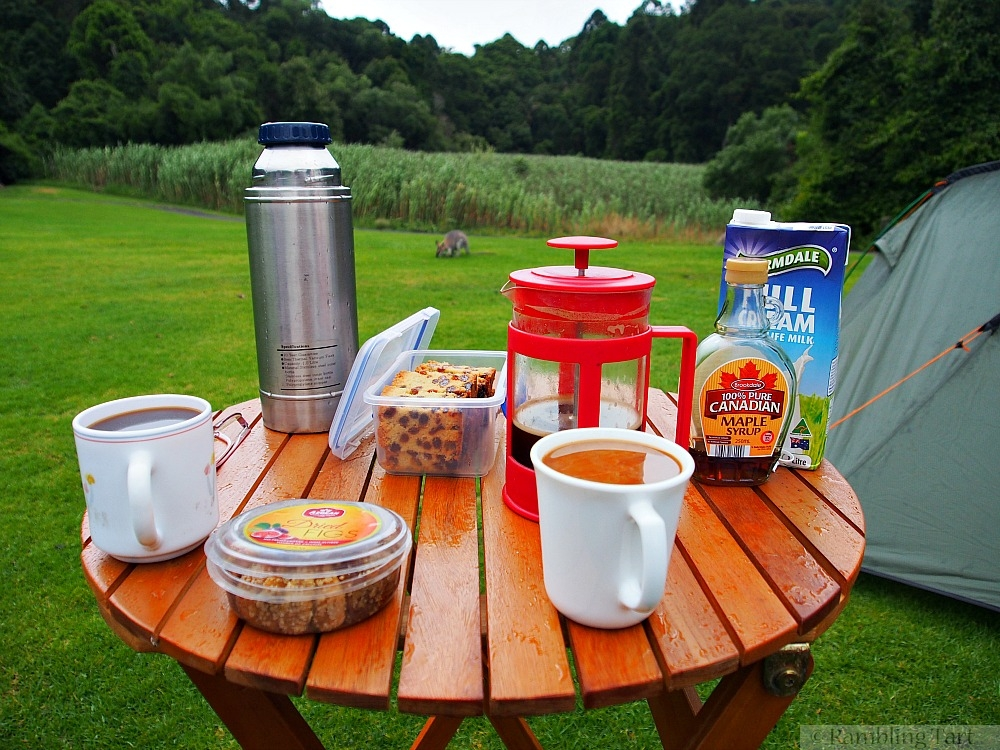 camping coffee break