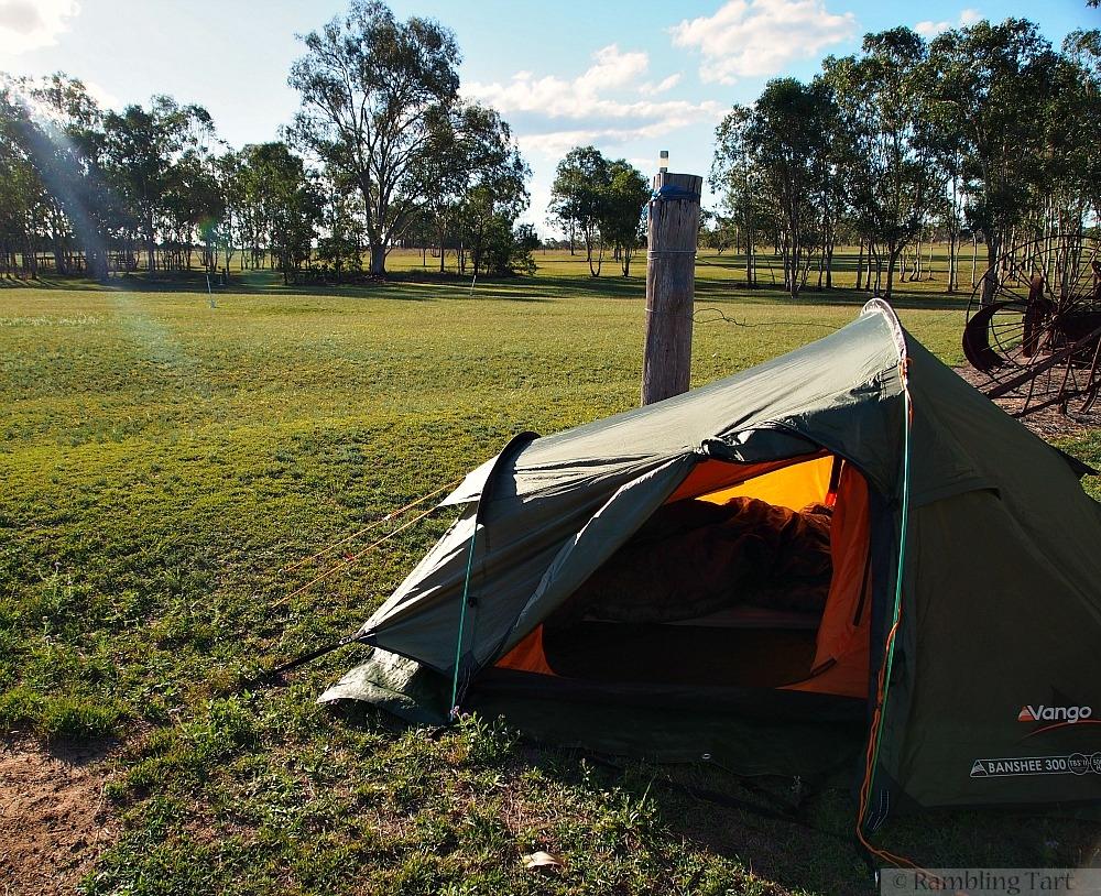 camping at Boondooma Homestead