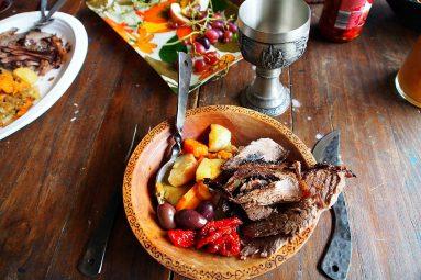 medieval bowl of food