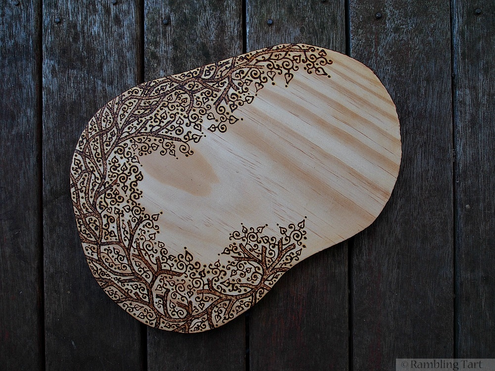 wood burned branches