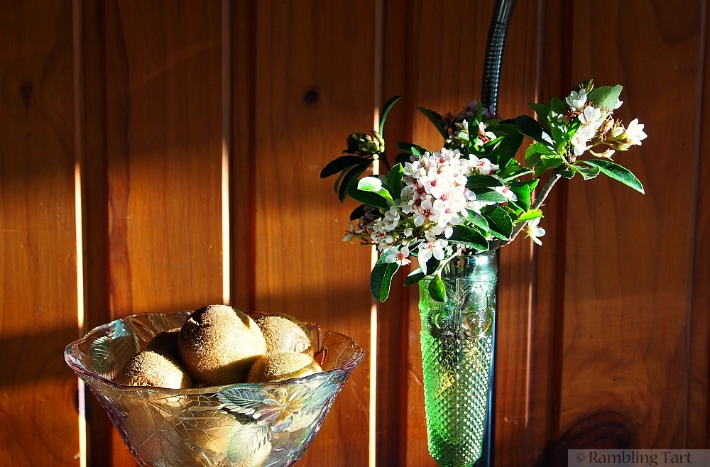 flowers and kiwis