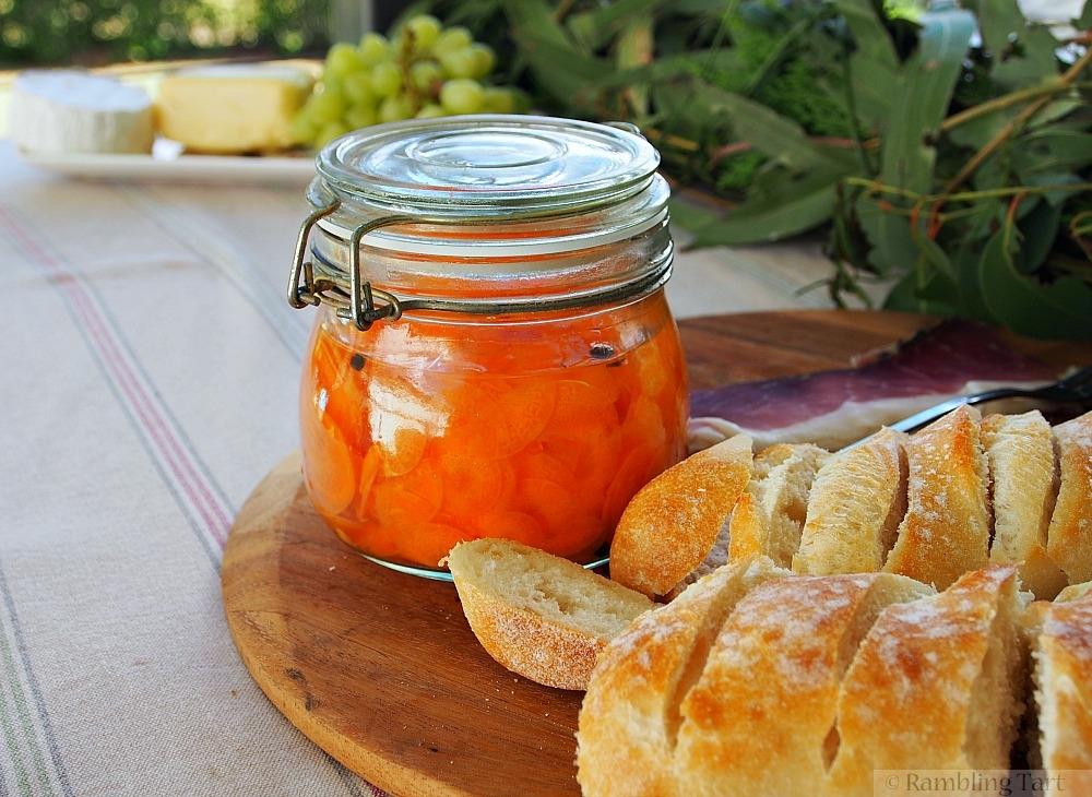 jar of pickled carrots
