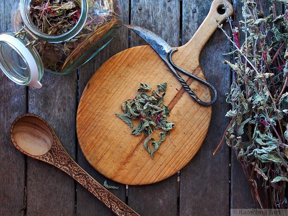 drying herbs for tea