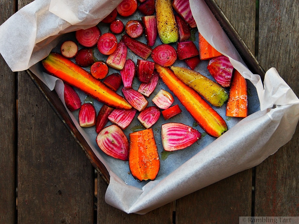 roasting carrots and beets